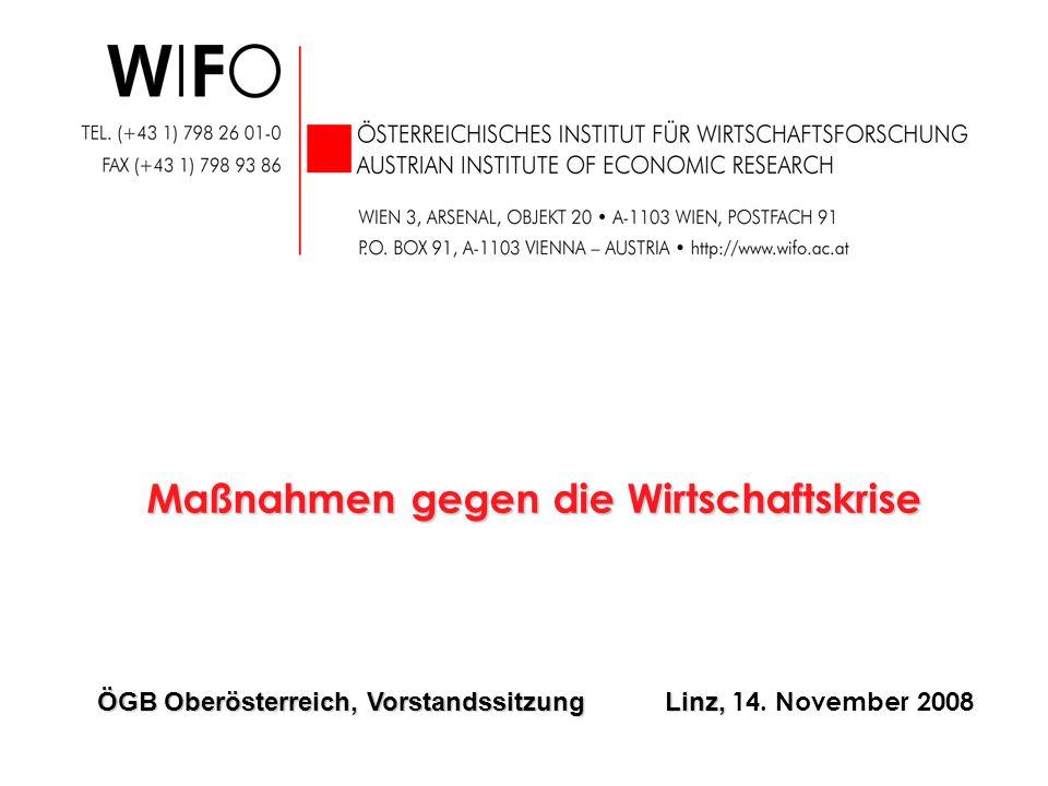 Maßnahmen gegen die Wirtschaftskrise ÖGB Oberösterreich, Vorstandssitzung Linz, ÖGB Oberösterreich, Vorstandssitzung Linz, 14. November 2008