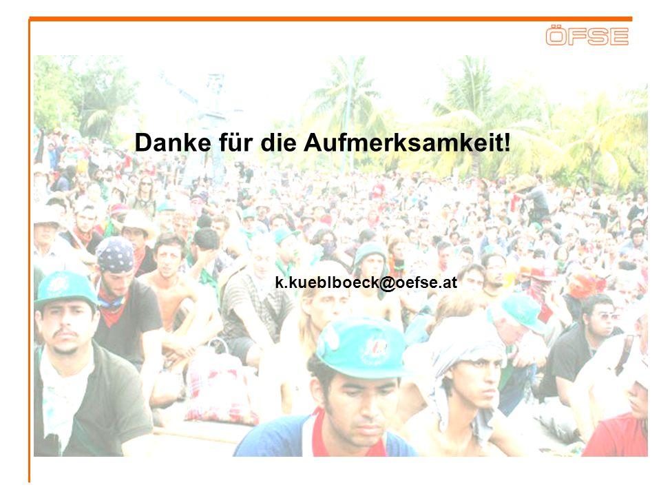 Danke für die Aufmerksamkeit! k.kueblboeck@oefse.at