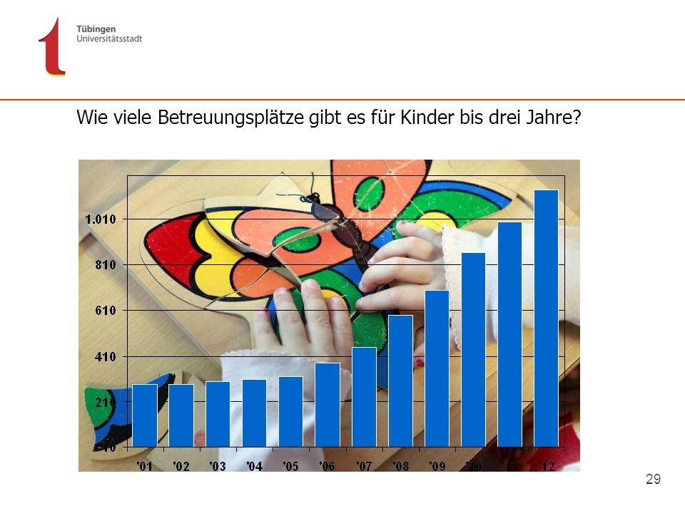 29 Wie viele Betreuungsplätze gibt es für Kinder bis drei Jahre?