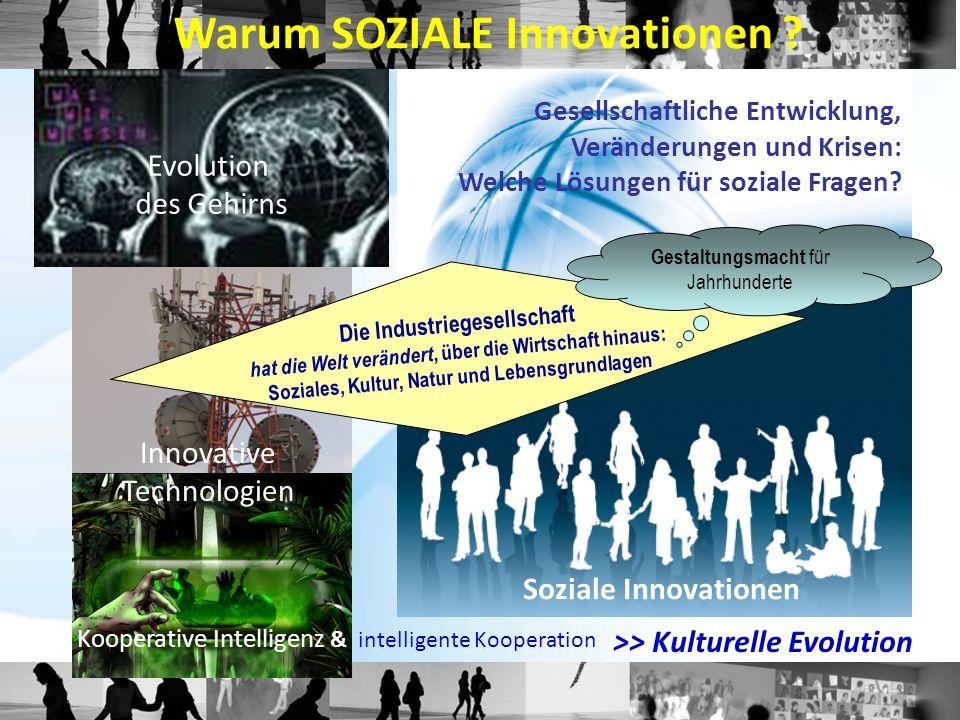 Gesellschaftliche Entwicklung, Veränderungen und Krisen: Welche Lösungen für soziale Fragen? Evolution des Gehirns Innovative Technologien Warum SOZIA