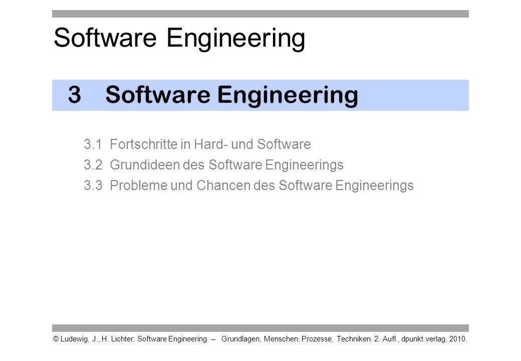 Software Engineering © Ludewig, J., H. Lichter: Software Engineering – Grundlagen, Menschen, Prozesse, Techniken. 2. Aufl., dpunkt.verlag, 2010. 3Soft