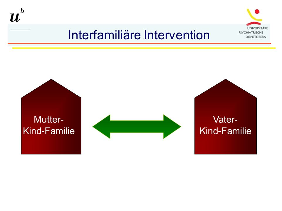 Mutter- Kind-Familie Vater- Kind-Familie Interfamiliäre Intervention