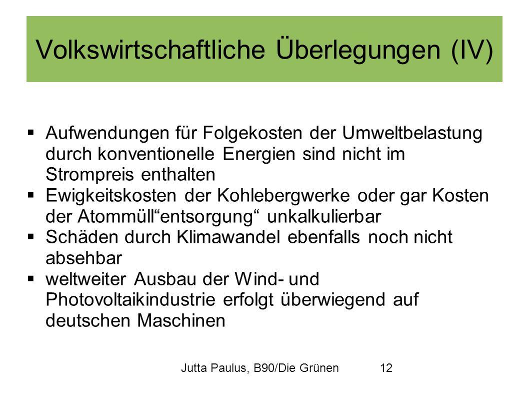 Jutta Paulus, B90/Die Grünen12 Aufwendungen für Folgekosten der Umweltbelastung durch konventionelle Energien sind nicht im Strompreis enthalten Ewigk