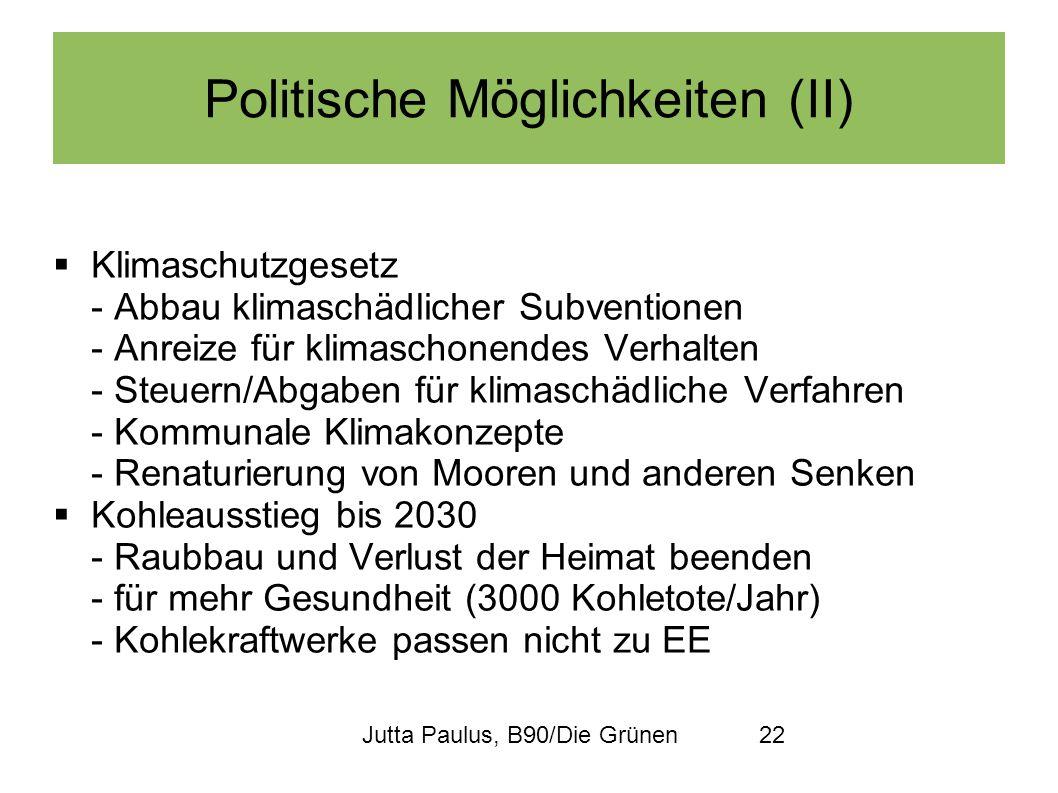 Jutta Paulus, B90/Die Grünen22 Politische Möglichkeiten (II) Klimaschutzgesetz - Abbau klimaschädlicher Subventionen - Anreize für klimaschonendes Ver