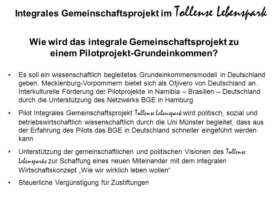 Es soll ein wissenschaftlich begleitetes Grundeinkommensmodell in Deutschland geben. Mecklenburg-Vorpommern bietet sich als Otjivero von Deutschland a