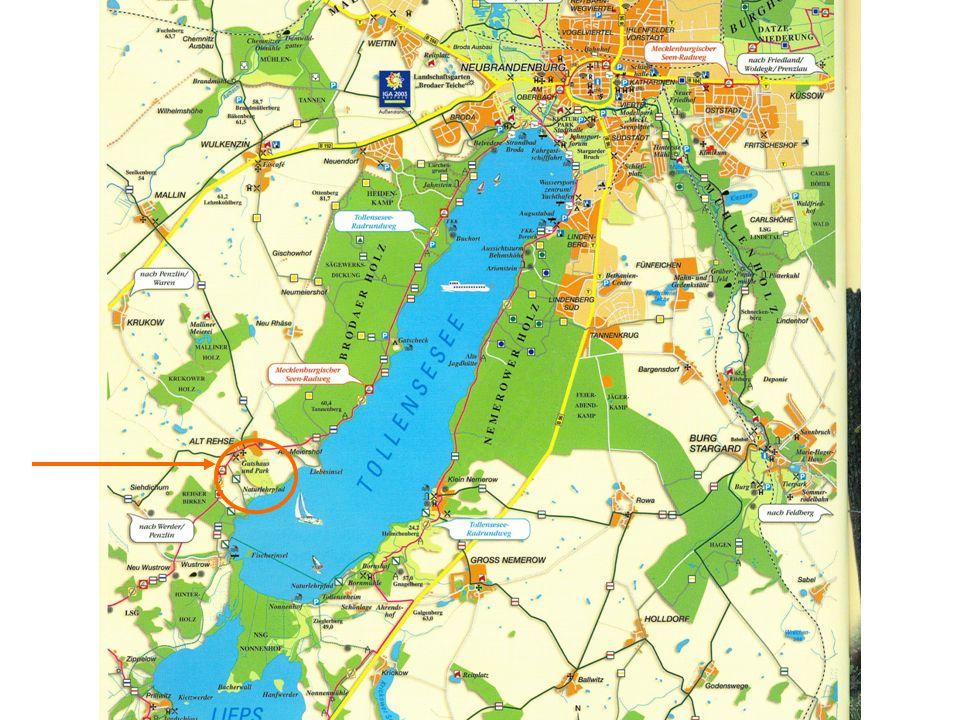 Der Tollensesee Landkarte