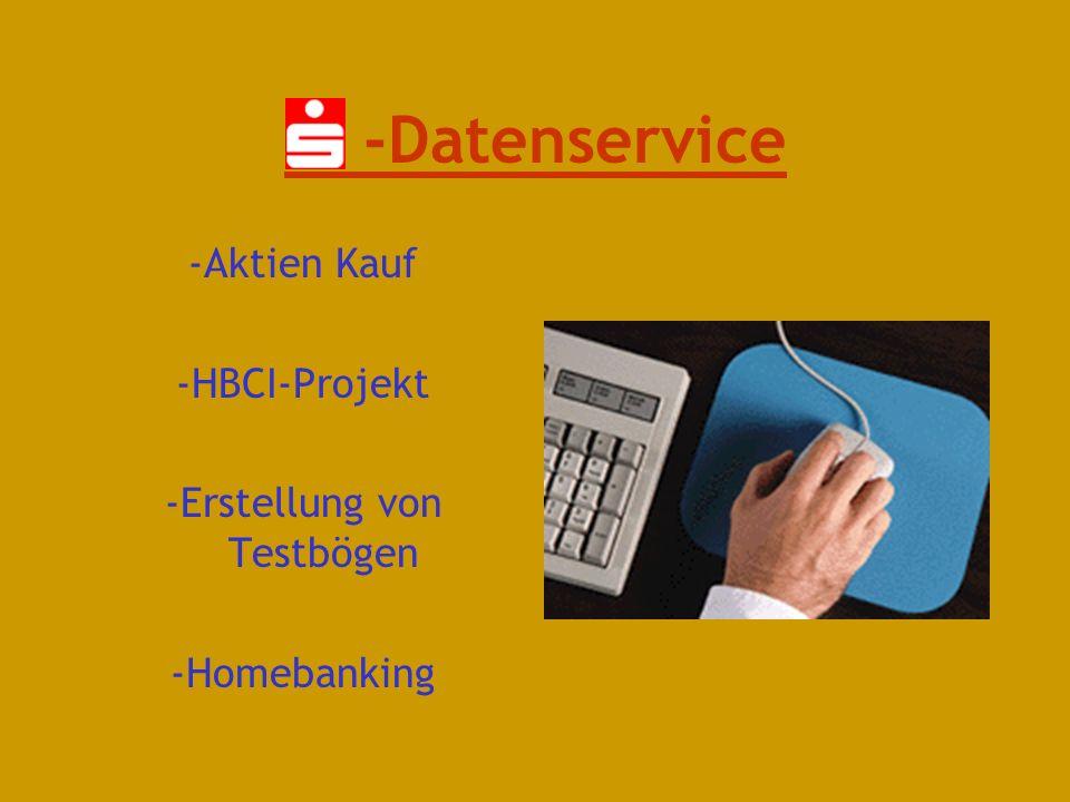 Verschiedene Bereiche Service Kasse S-Datenservice Allgemeine Organisation Rechnungswesen Kundenberatung Zahlungsverkehr weiter