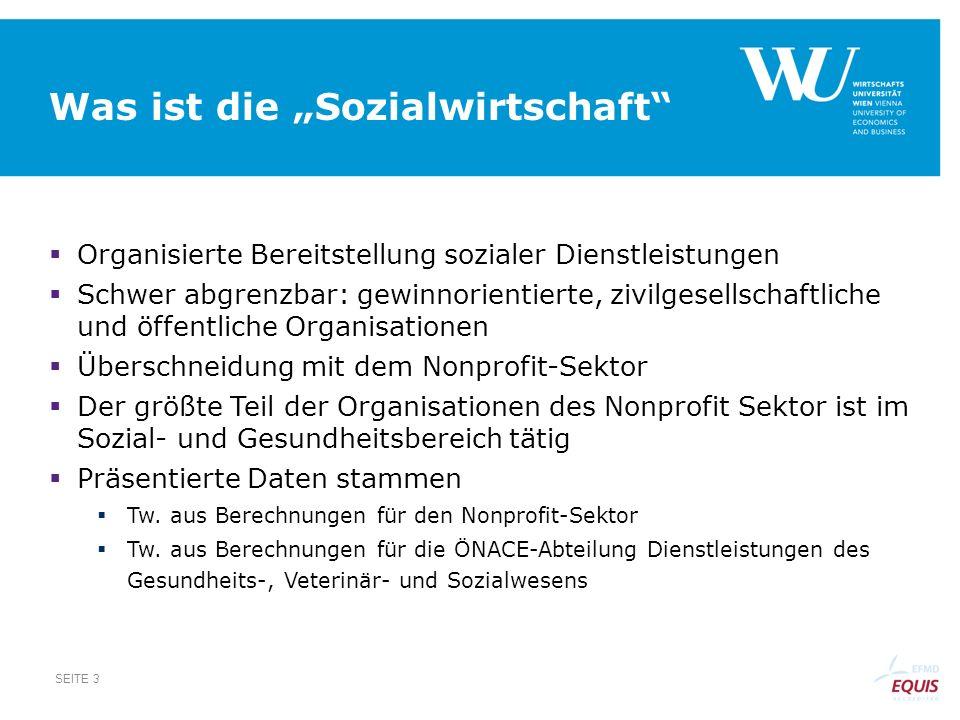 Wertschöpfungsmultiplikator SEITE 14 Quelle: Statistik Austria (2009): Input-Output-Tabelle inkl.