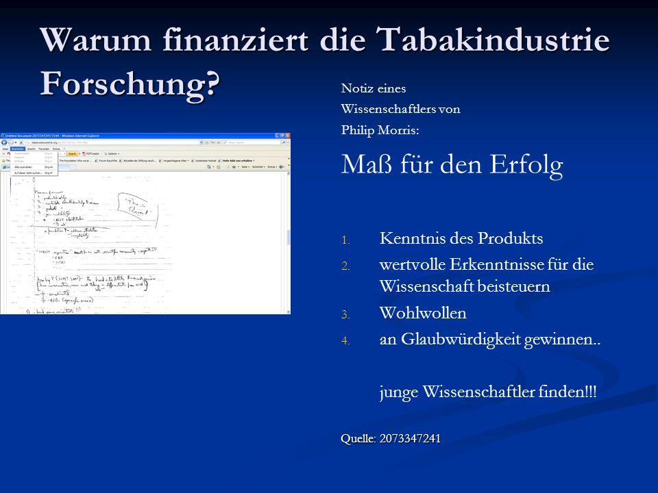 Beteiligung von Wissenschaftlern an dem External Research Programm von Philip Morris in Deutschland (2002 – 2005) Berlin: Herzzentrum, Prof.