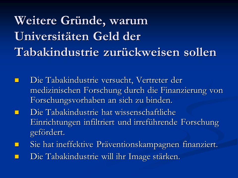 Ethik-Kodex des Forum Rauchfrei 2004