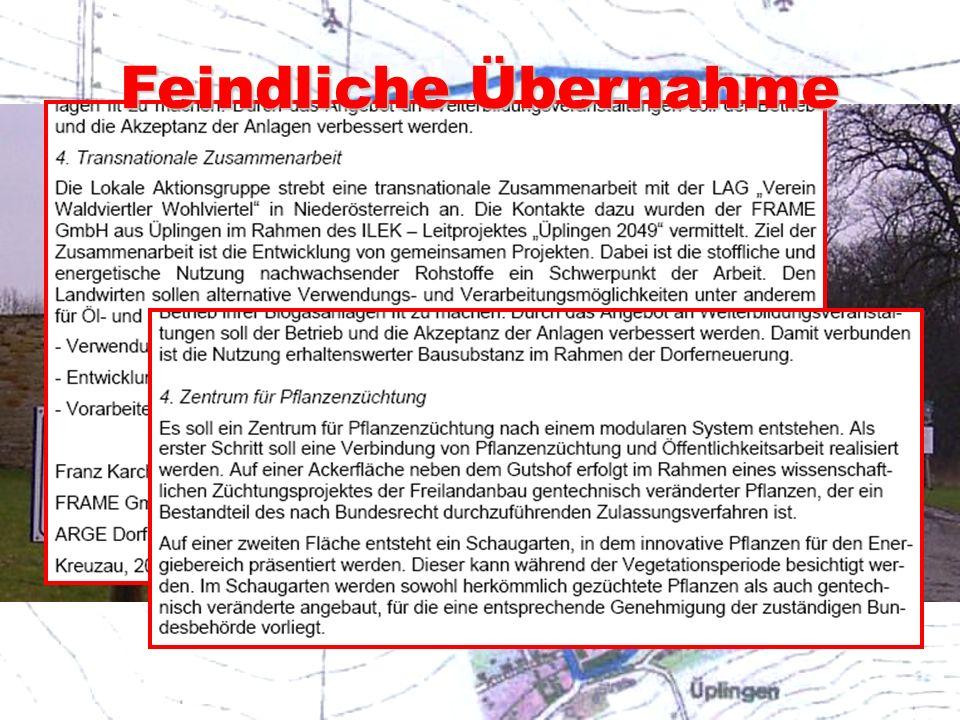 Die Hochburgen der Seilschaften Schöpfungsgeschichte, achter Tag: Mit 35 Mio. Euro der GERO AG (inzwischen bankrott) und viel Staatskohle entstand ein