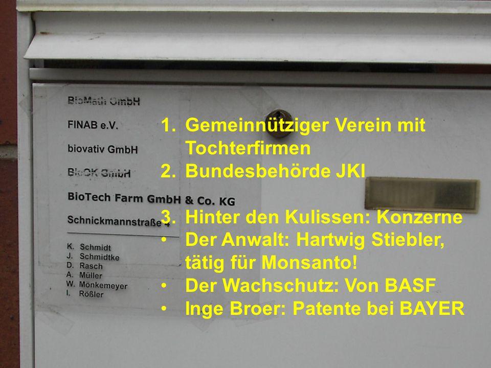 Hauptberuf: Uni Rostock, Prof. für Agrobiotechnologie Firmen: Neugründungen am AgroBioTechnikum mit Arbeitsteilung – Broer Vorstandsvor- sitzende o.ä.