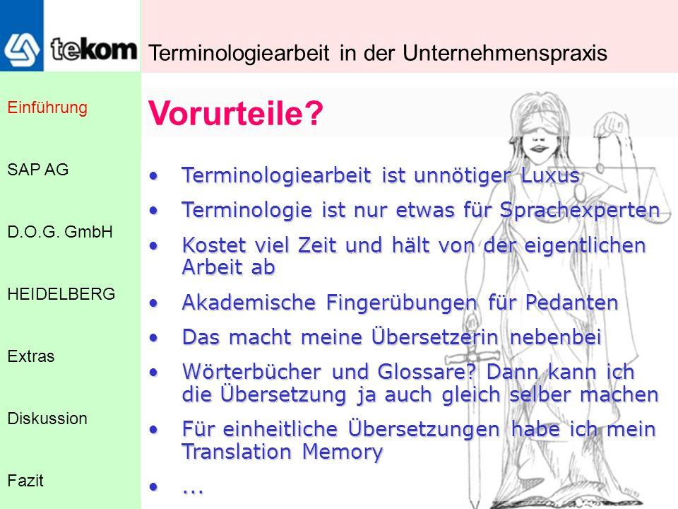 Was ist Terminologie.Einführung D.O.G.