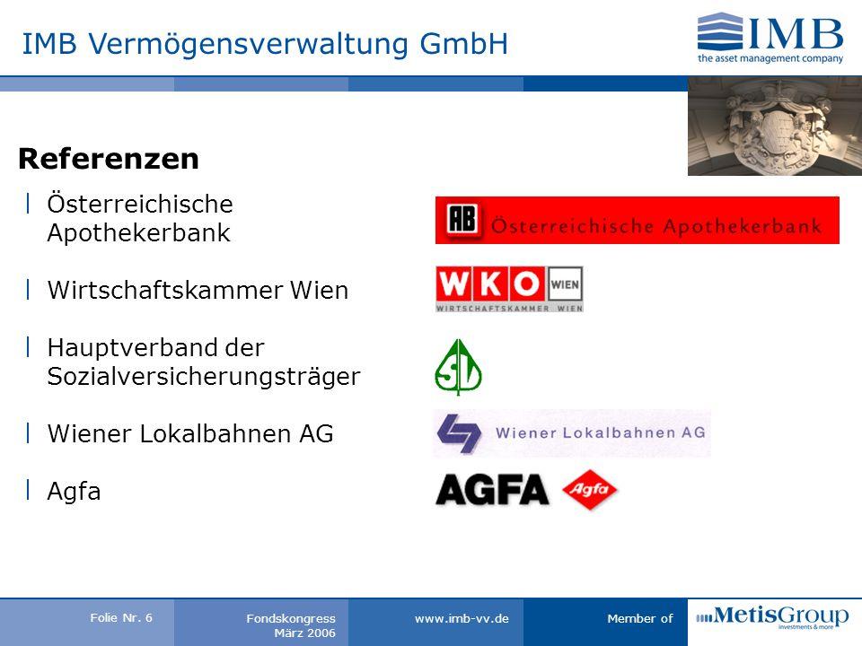 Folie Nr.16 Member ofwww.imb-vv.deFondskongress März 2006 ERFOLG BEFLÜGELT.