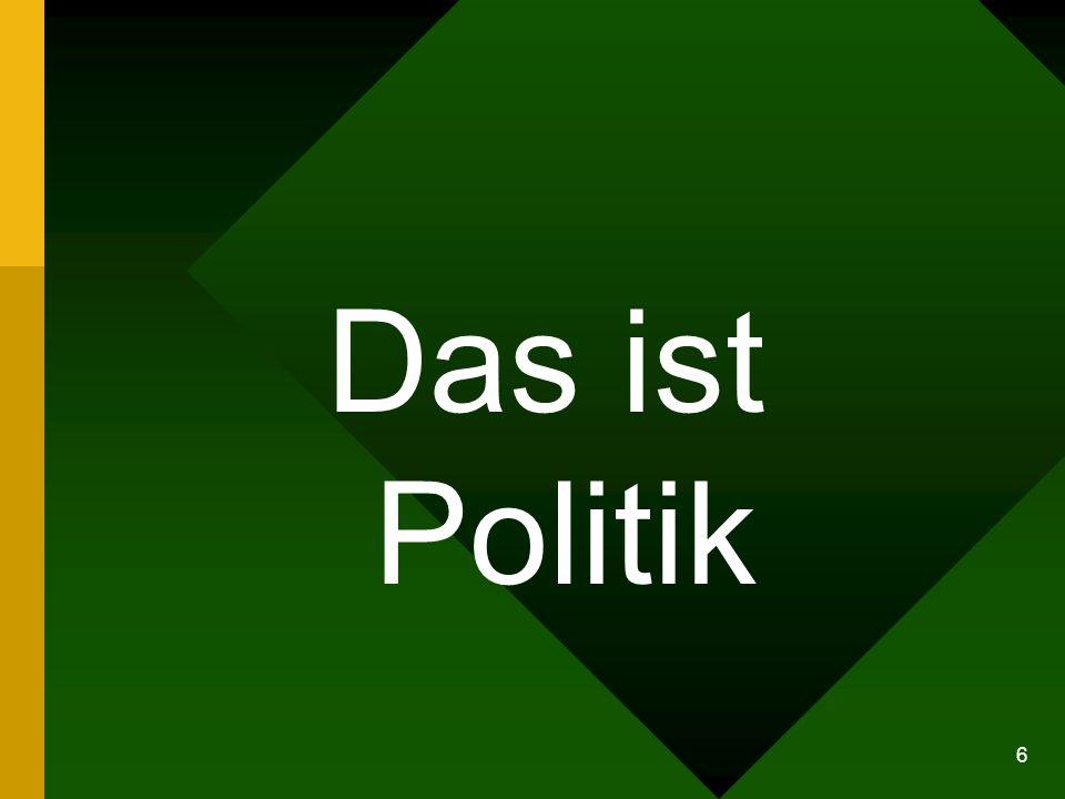 6 Das ist Politik