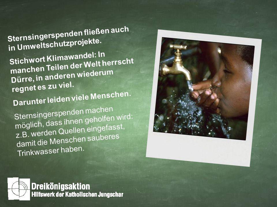 Sternsingerspenden fließen auch in Umweltschutzprojekte.