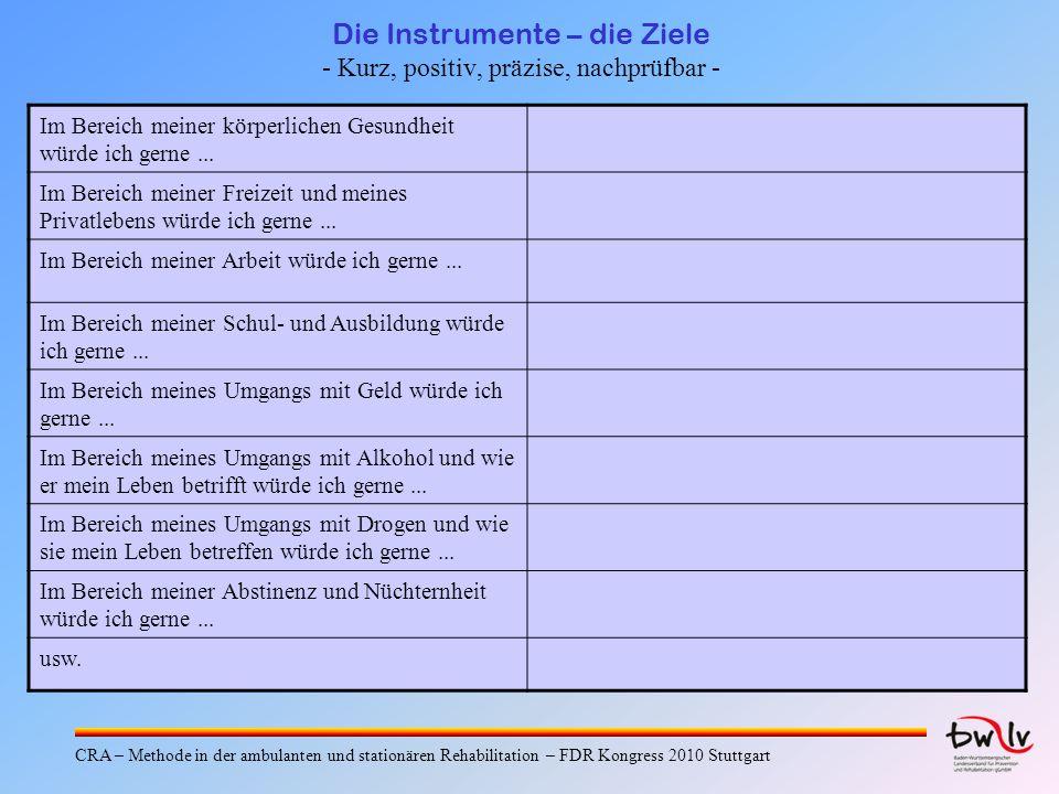 Die Instrumente – Analyse drogenkonsum.Verhaltens Dipl.-Psych.