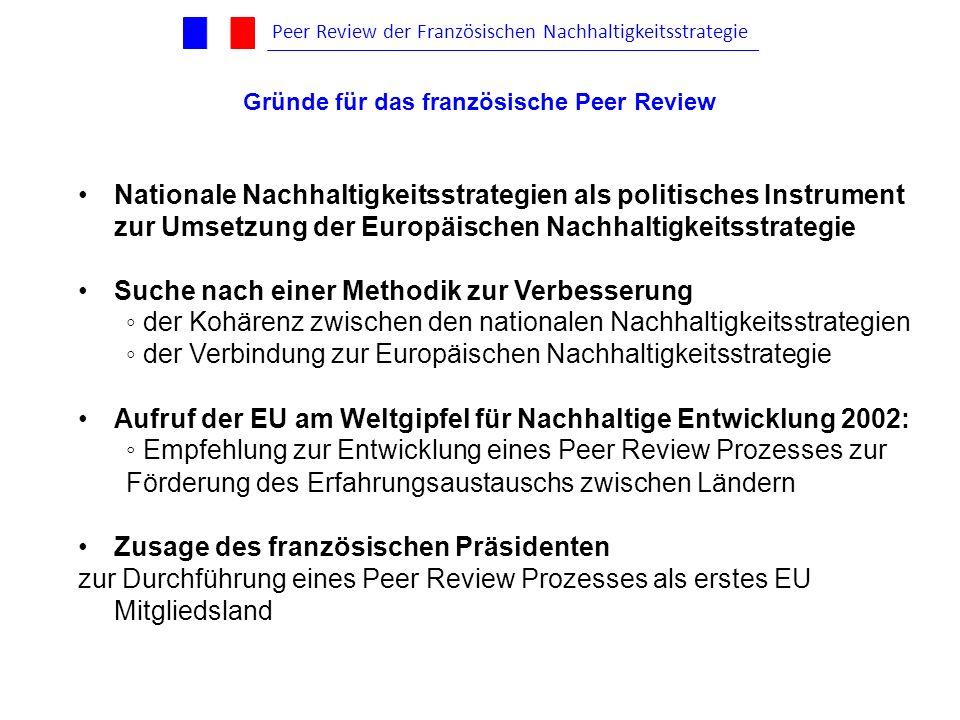 Nationale Nachhaltigkeitsstrategien als politisches Instrument zur Umsetzung der Europäischen Nachhaltigkeitsstrategie Suche nach einer Methodik zur V