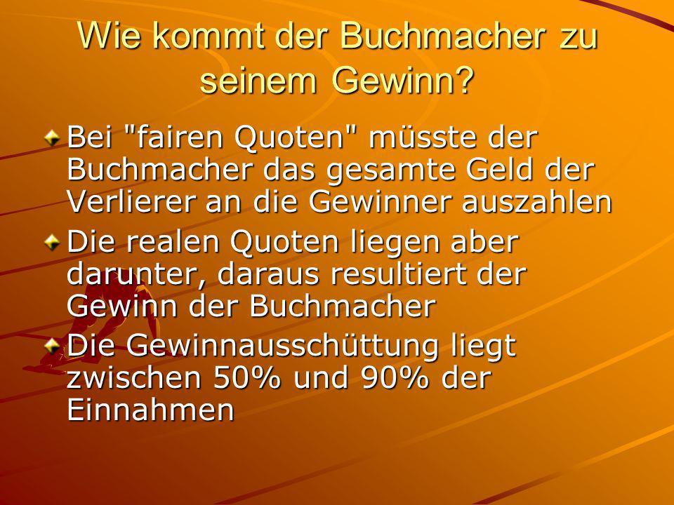 Was ist eine Wettquote? Verhältnis vom Einsatz zu dem möglichen Gewinn Beispiel: Der 1. FC Köln spielt gegen Bayern München. Auf einen Sieg des 1. FC