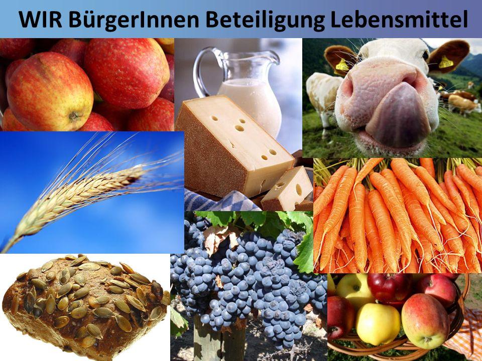 WIR BürgerInnen Beteiligung Lebensmittel