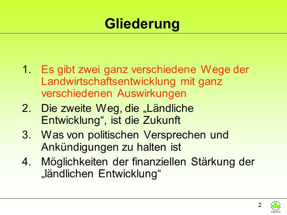 33 Ausgangssituation EU Ebene JFischer-Boel: Die 2.
