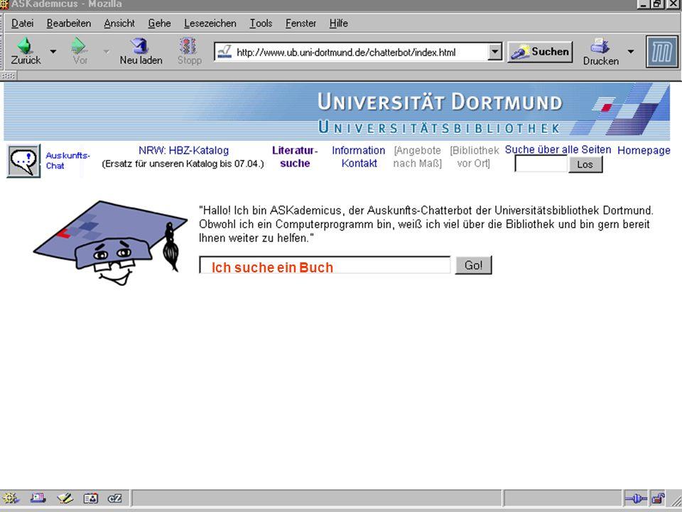 UNIVERSITÄTSBIBLIOTHEK Universitätsbibliothek Ich suche ein Buch