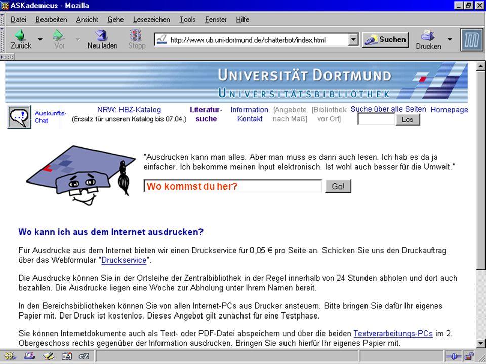 UNIVERSITÄTSBIBLIOTHEK Universitätsbibliothek Wo kommst du her