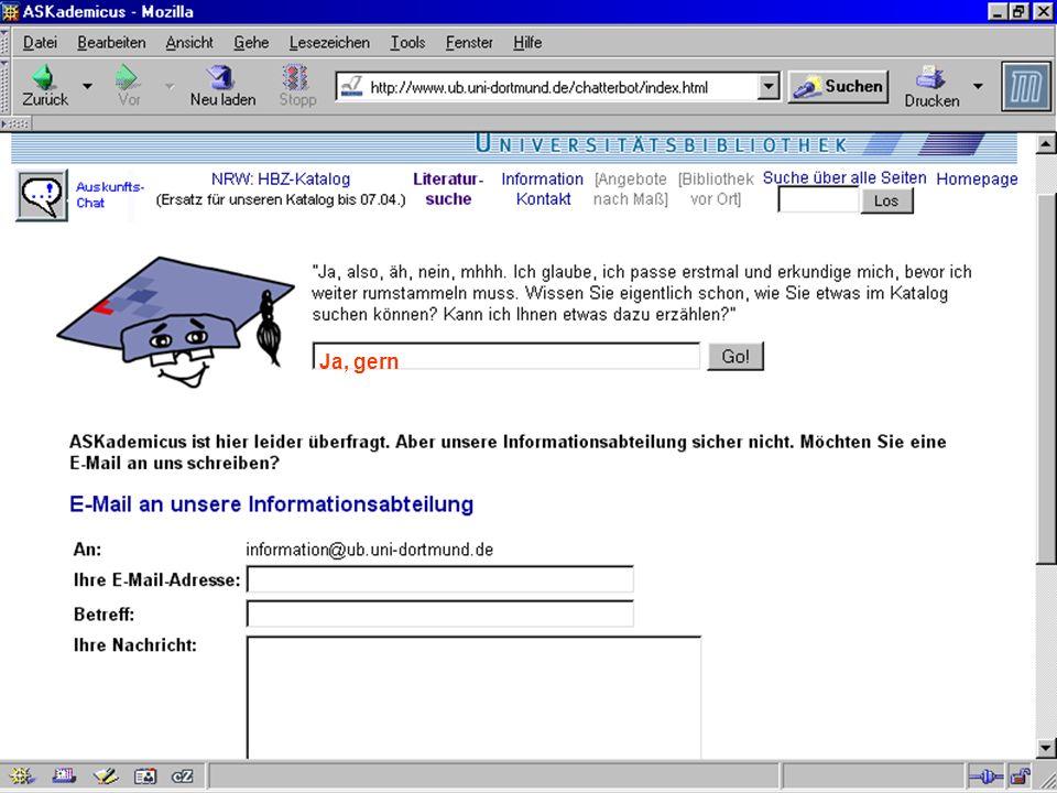 UNIVERSITÄTSBIBLIOTHEK Universitätsbibliothek Ja, gern
