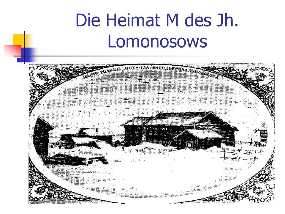 Volks-Speicher M.W.Lomonossow ist in 1765 gestorben.
