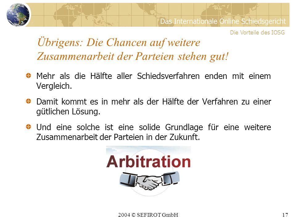 2004 © SEFIROT GmbH16 4.
