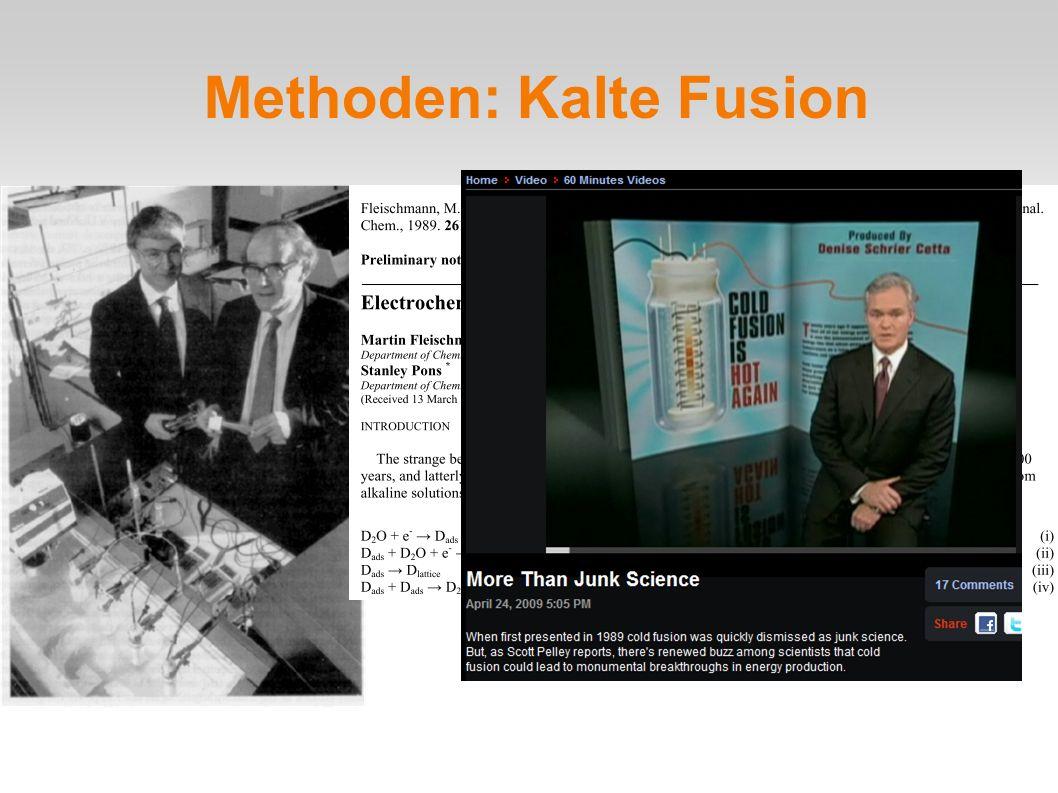 Methoden: Kalte Fusion