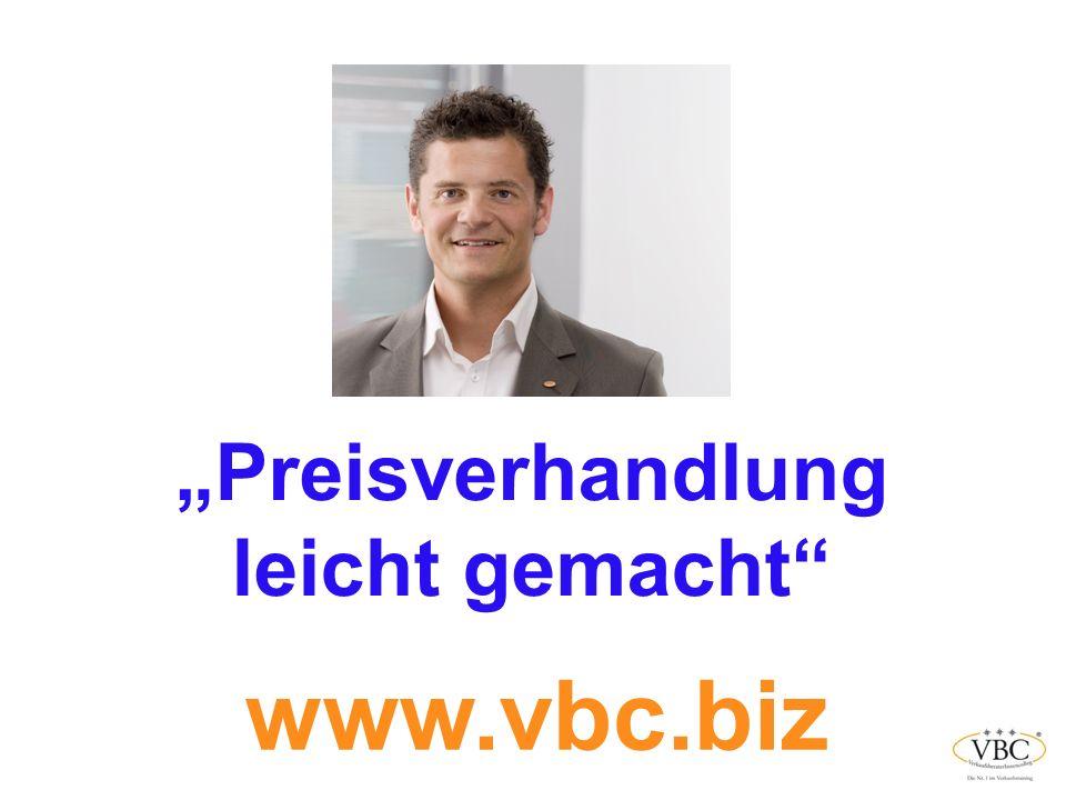 Preisverhandlung leicht gemacht www.vbc.biz