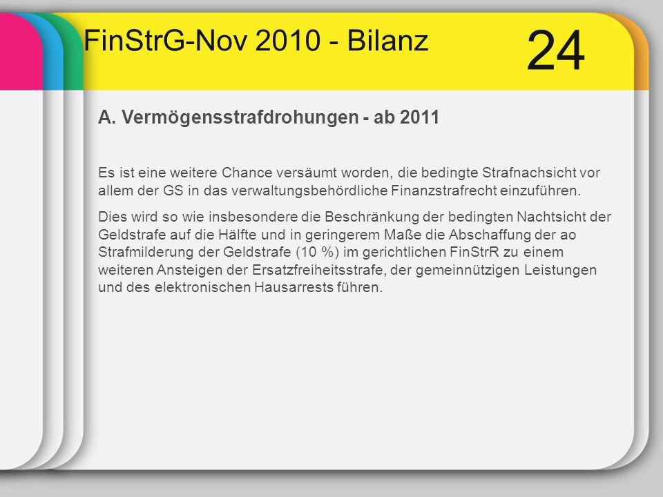 24 FinStrG-Nov 2010 - Bilanz A.