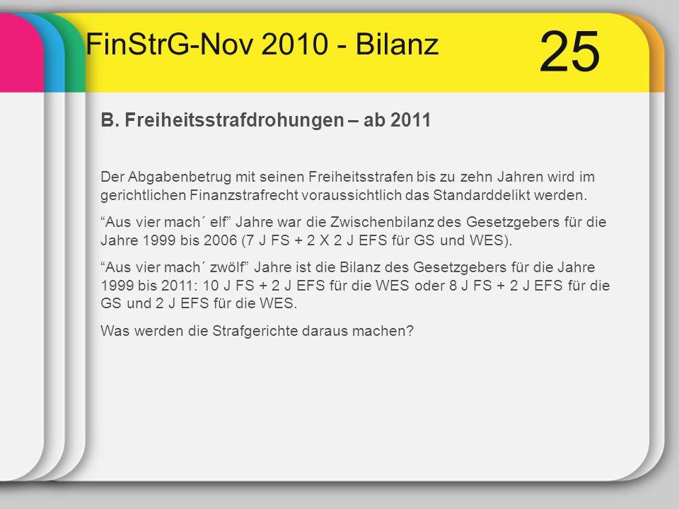 25 FinStrG-Nov 2010 - Bilanz B.