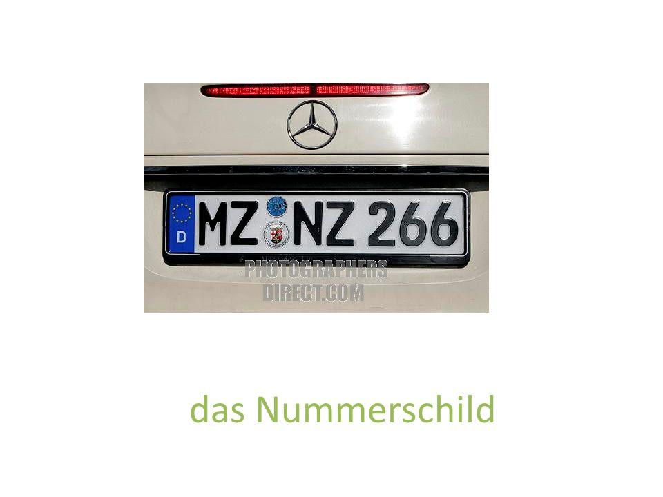 das Nummerschild