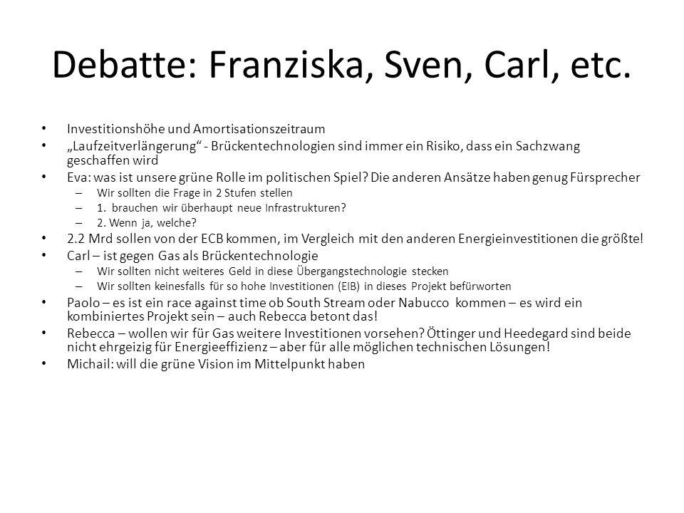 Debatte: Franziska, Sven, Carl, etc.
