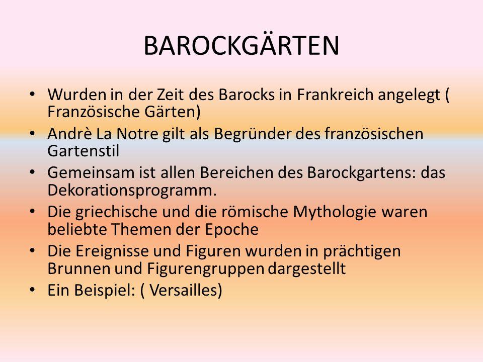 Merkmale Stil: Barock Das zentrale Motiv: die Jagd Ist der Mittelpunkt eines großen Schlossparks Die Höfe: mit Buchsbaumparterres und Blumenbeeten dekoriert