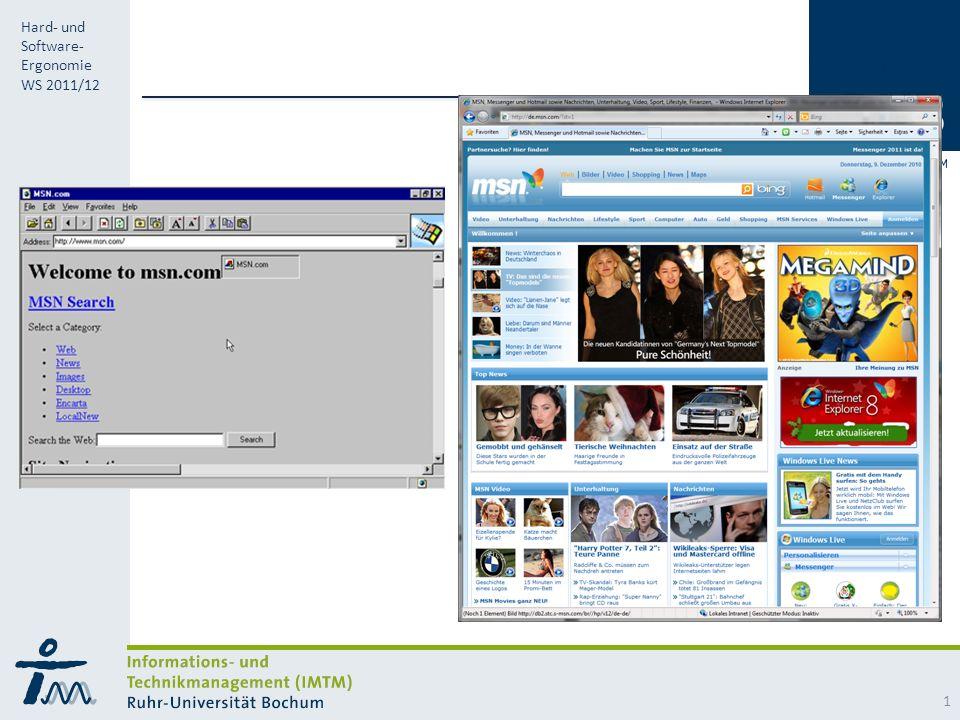 RUB Hard- und Software- Ergonomie WS 2011/12 1