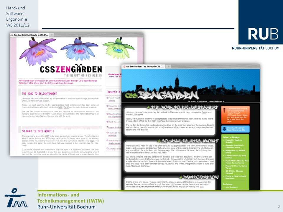 RUB Hard- und Software- Ergonomie WS 2011/12 2