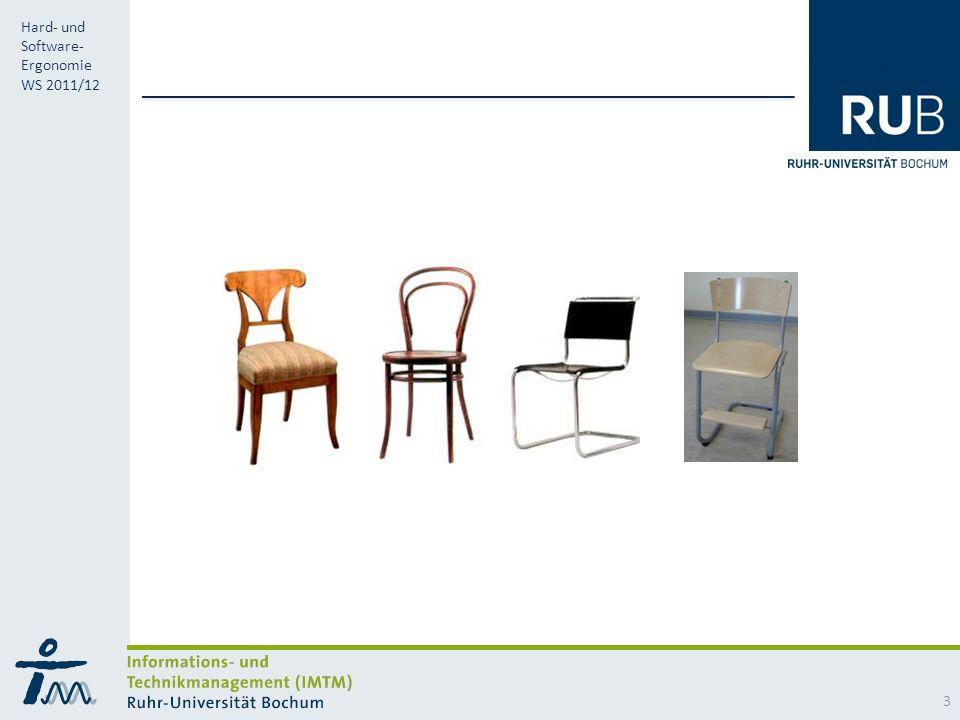 RUB Hard- und Software- Ergonomie WS 2011/12 3
