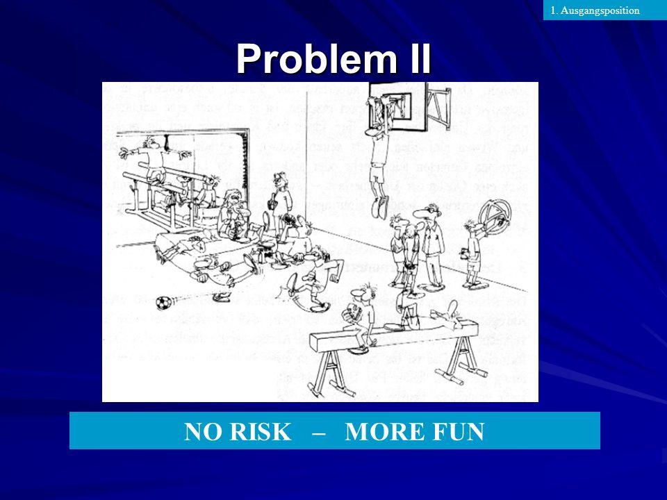 NO RISK – MORE FUN Problem II 1. Ausgangsposition