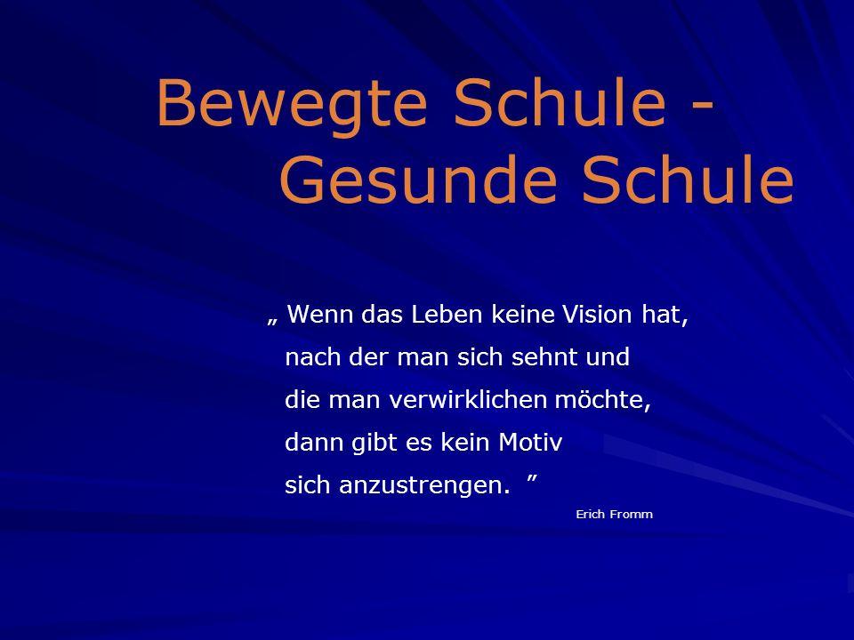 Wenn das Leben keine Vision hat, nach der man sich sehnt und die man verwirklichen möchte, dann gibt es kein Motiv sich anzustrengen.