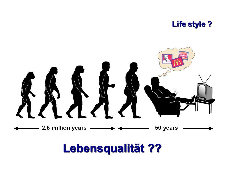 Lebensqualität ?? Life style ?