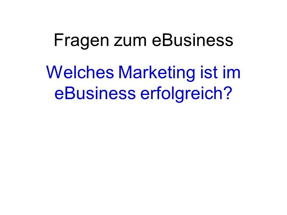 Fragen zum eBusiness Welches Marketing ist im eBusiness erfolgreich?