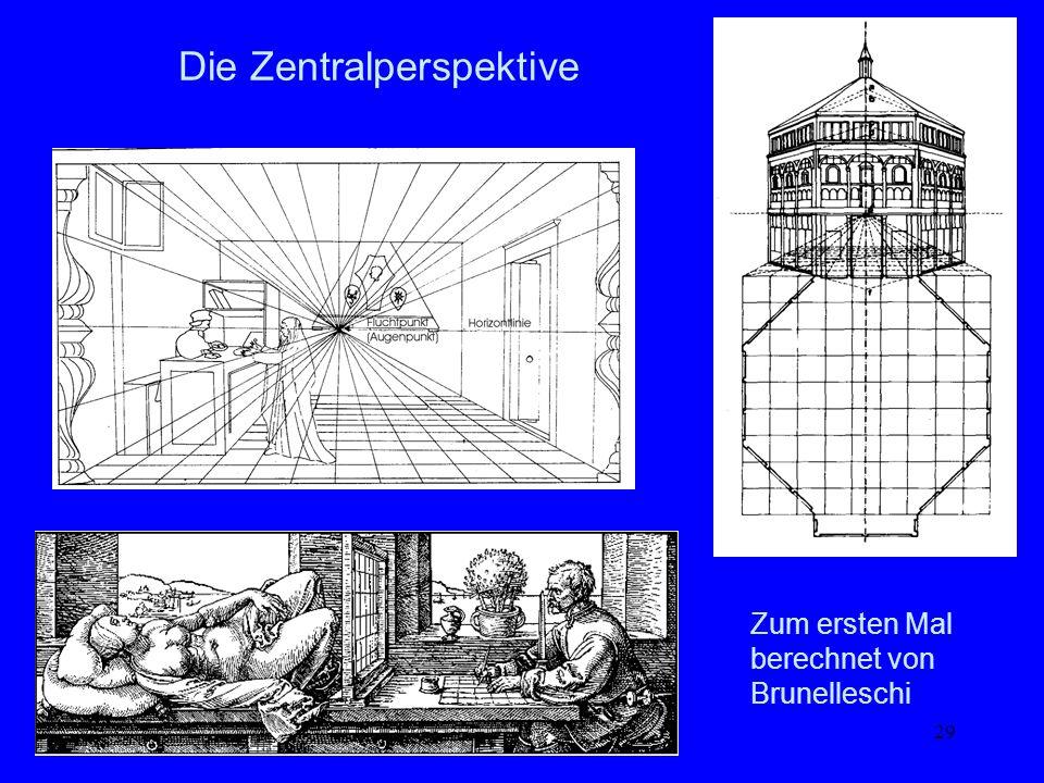 29 Die Zentralperspektive Zum ersten Mal berechnet von Brunelleschi