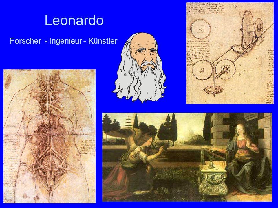 32 Leonardo Forscher - Ingenieur - Künstler