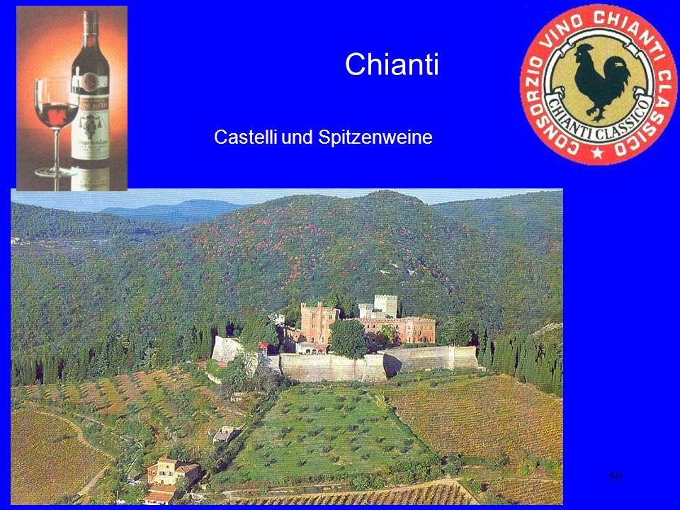 50 Chianti Castelli und Spitzenweine
