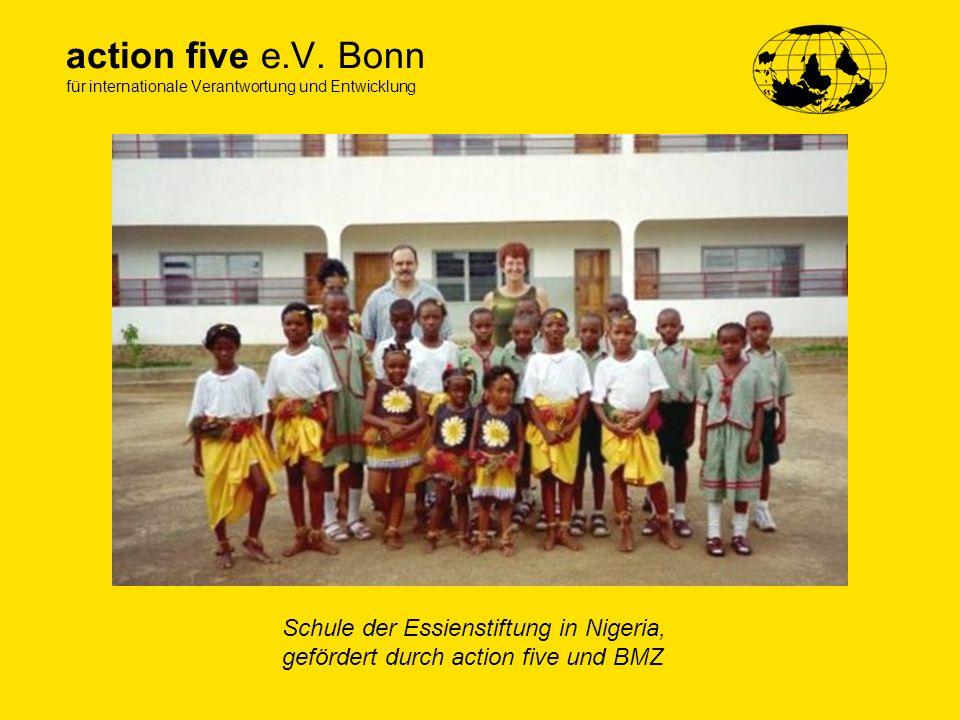 action five e.V. Bonn für internationale Verantwortung und Entwicklung Schule der Essienstiftung in Nigeria, gefördert durch action five und BMZ