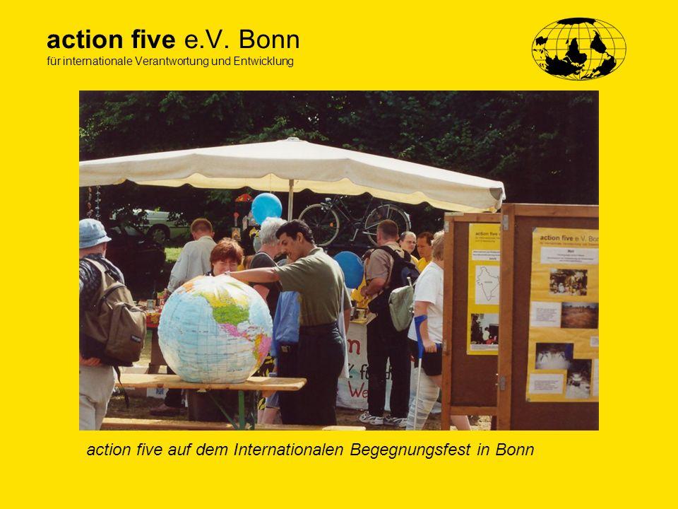 action five e.V. Bonn für internationale Verantwortung und Entwicklung action five auf dem Internationalen Begegnungsfest in Bonn