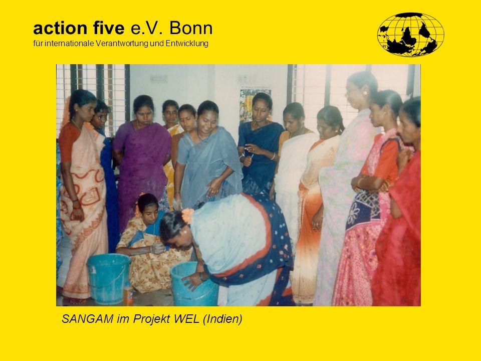 action five e.V. Bonn für internationale Verantwortung und Entwicklung SANGAM im Projekt WEL (Indien)